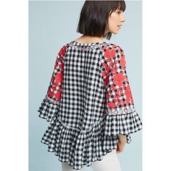 f6406737c437 Anthropologie Tops | Pankaj Nidhi Gingham Swing Tunic | Poshmark